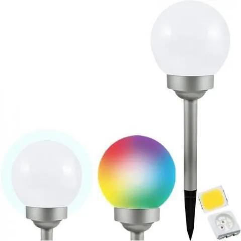 Polux LED RGB Solárna lampa BALL LED/0,2W/AA 1,2V/600mAh IP44 SA1236