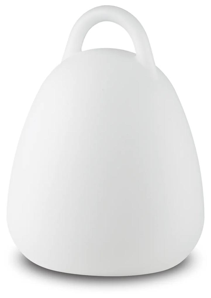 Exteriérové stolová lampa Ideal lux 138893 LIVE TL1 CAMPANA 1xLED 5W/10lm 4000K biela IP65