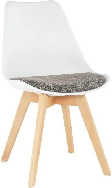 TEMPO KONDELA Damara jedálenská stolička biela / hnedá / buk