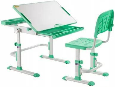 Fundesk Rastúci stôl DISA + stolička Farba: Zelená