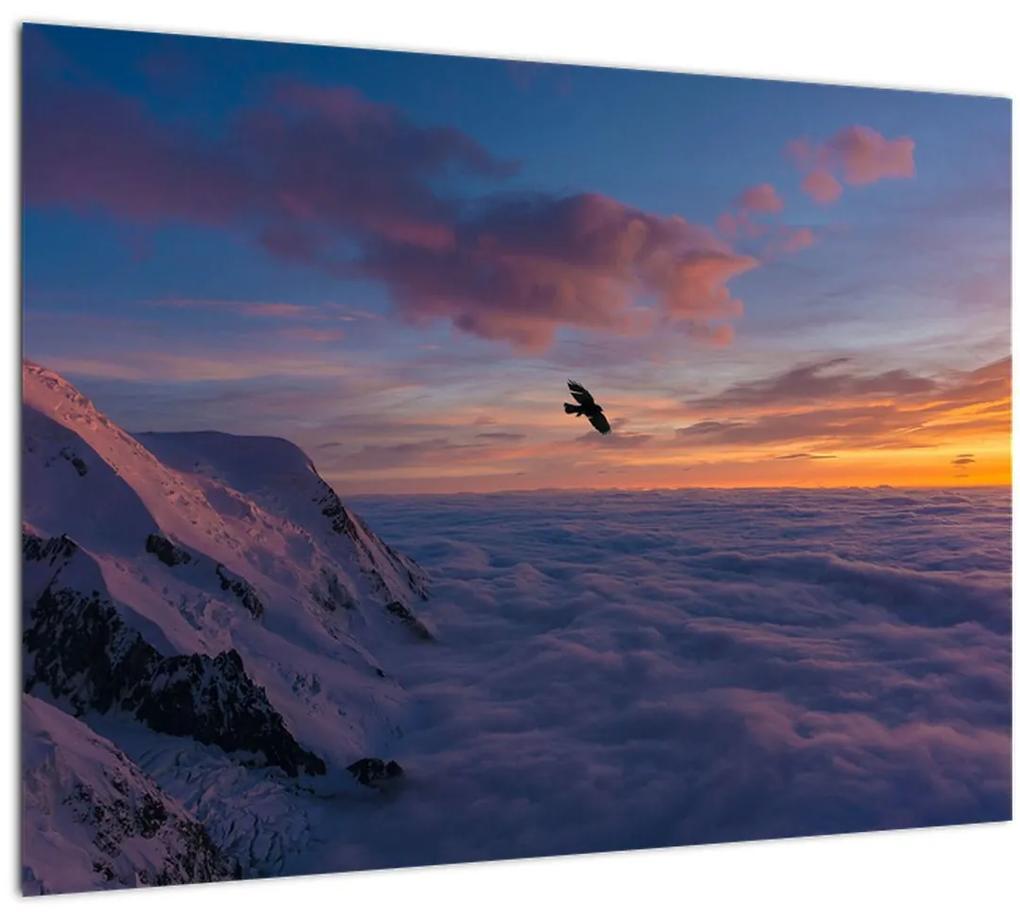 Obraz pri západe slnka, Mt. blanc (70x50 cm), 40 ďalších rozmerov