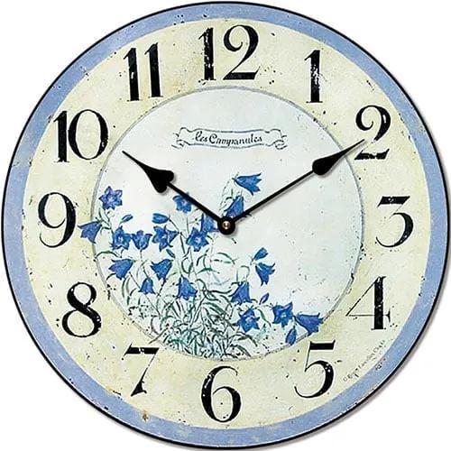 Isabelle Rose Hodiny nástenné s motívom modrých zvončekov 29 cm