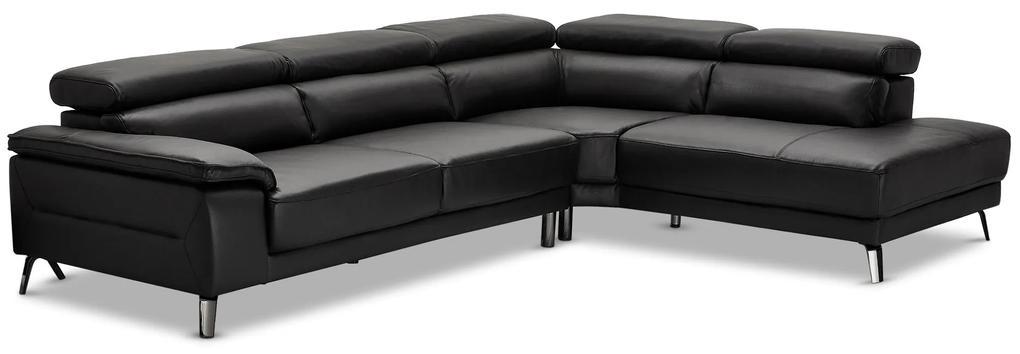 Dizajnová rohová sedačka Adrien, pravá