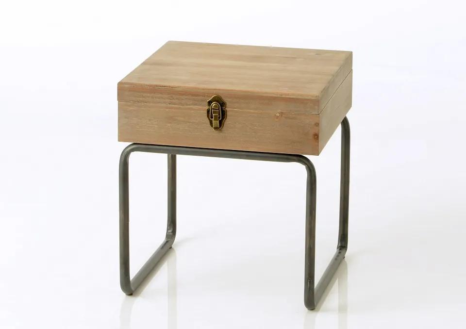 CADES nočný stolík s úložným priestorom industrial 50x50x50cm