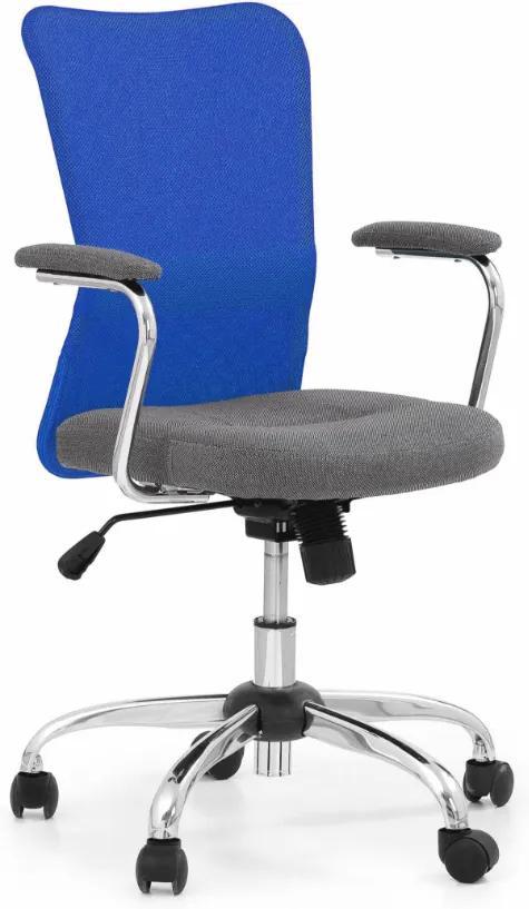 MAXMAX Detská otočná stolička ANDY modrošedá
