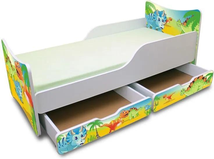 MAXMAX Detská posteľ so zásuvkou 180x90 cm - DINO 180x90 pre chlapca ÁNO