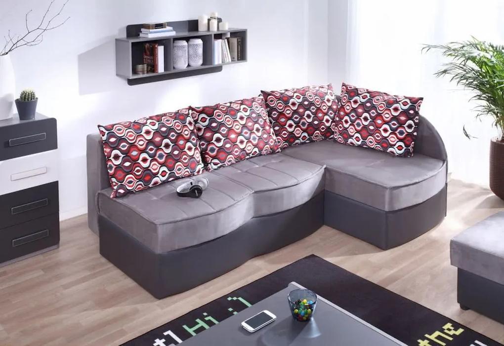 Expedo Rohová rozkladacia sedačka FIGARO, 86x202x145 cm, 86x202x145, soft 20/alcala 22, tkanina NR2, pravý