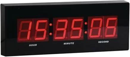 Digitálne hodiny, čierna/červená