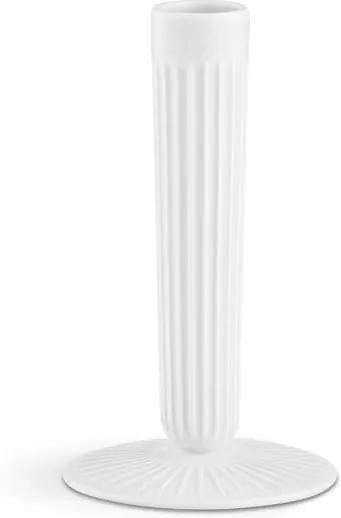 Biely kameninový svietnik Kähler Design Hammershoi, výška 16 cm