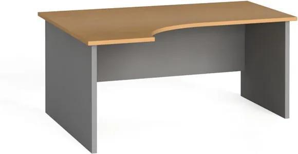 Ergonomický kancelársky pracovný stôl 160x120 cm, buk, ľavý