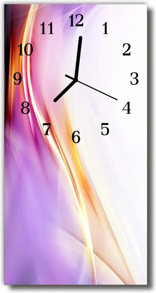 Sklenené hodiny vertikálne  Umenie fialová abstrakcie