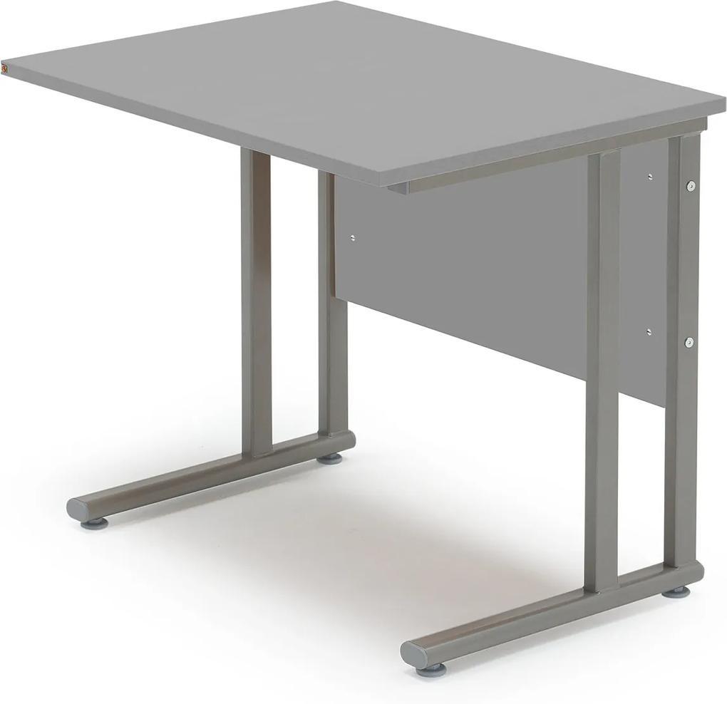 Prídavný kancelársky pracovný stôl Flexus, 800x600 mm, šedá