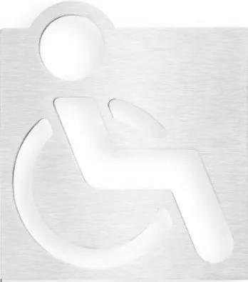 Bemeta 111022022 WC vozíčkar tabuľka 120x120 mm, leštená nerez XP057