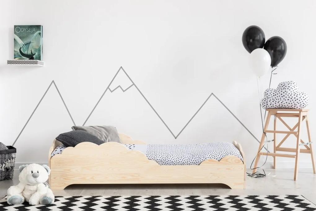 MAXMAX Detská posteľ z masívu BOX model 9 - 190x80 cm