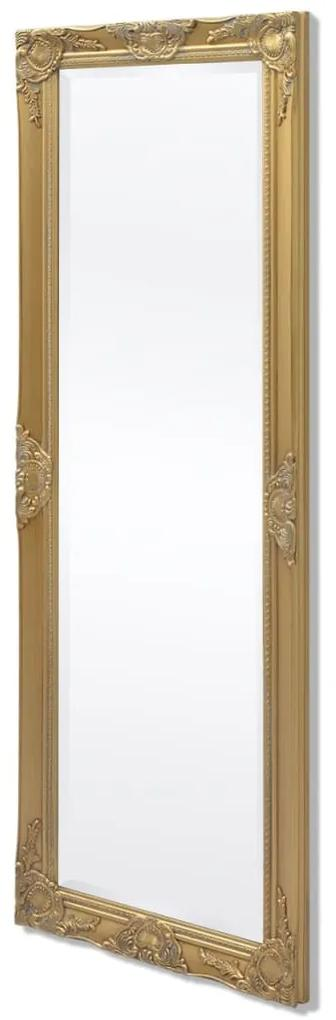 vidaXL Nástenné zrkadlo v barokovom štýle, 140x50 cm, zlaté