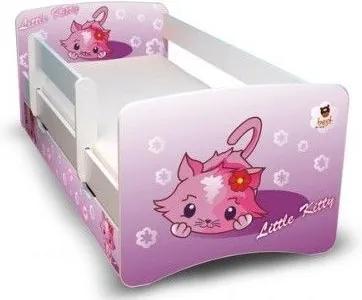 MAXMAX Detská posteľ 160x70 cm so zásuvkou - LITTLE KITTY II 160x70 pre dievča ÁNO