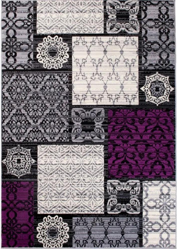 Kusový koberec PP Geos sivý 2, Velikosti 180x250cm