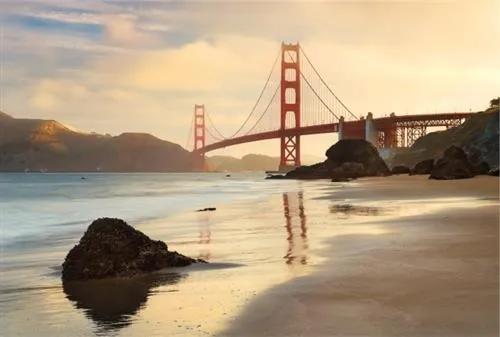 Vliesové fototapety, rozmer 368 cm x 248 cm, Golden Gate, Komar XXL4-054