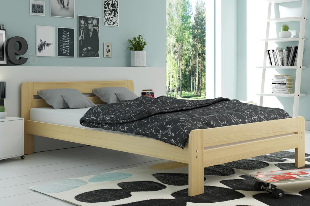 Široká posteľ DALLASO 120x200cm BOROVICA
