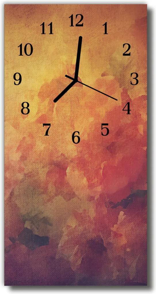 Skleněné hodiny vertikální Umění abstrakce barevné grafiky
