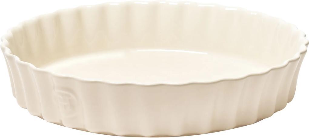 Emile Henry hlboká koláčová forma - priemer 28 cm, slonovinová kosť