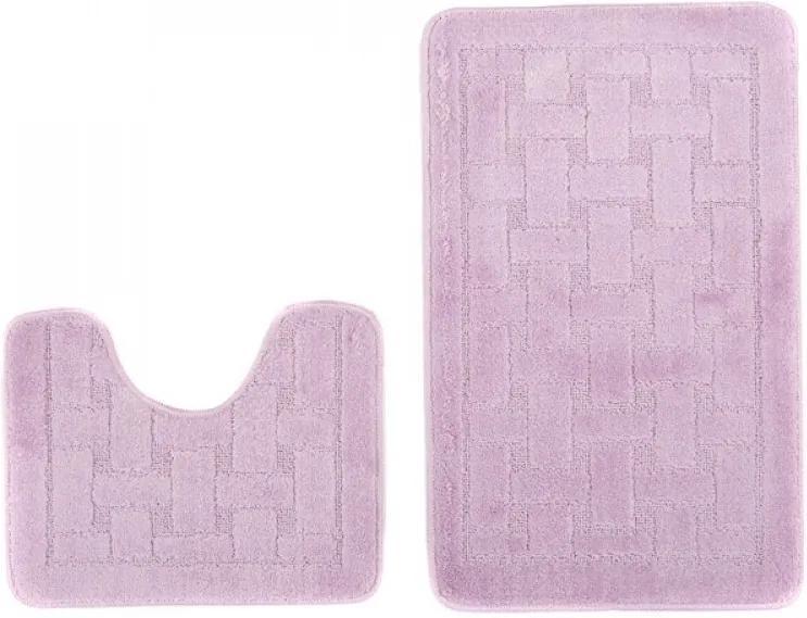 Kúpeľňové predložky 1039 fialové 2Ks, Velikosti 50x80cm
