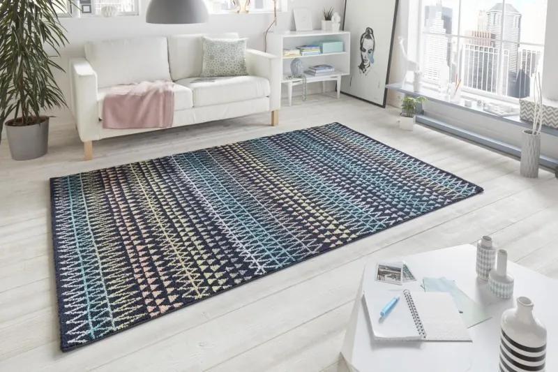 Mint Rugs - Hanse Home koberce Kusový koberec Madison 102778 Bunt Schwarz - 80x150 cm