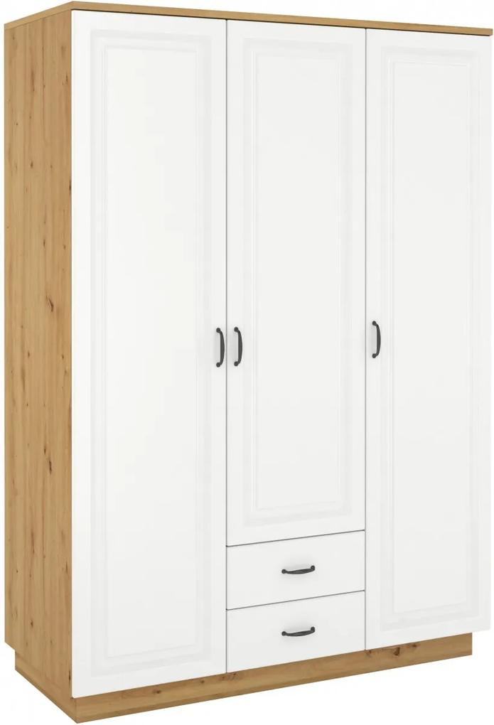Biela šatníková skriňa 180 cm Lirgen