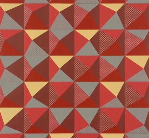 Vliesové tapety, kaleidoskop červeno-sivý, NENA 57243, MARBURG, rozmer 10,05 m x 0,53 m