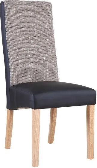 TEMPO KONDELA Ardon jedálenská stolička čierna / hnedá melírovaná / prírodná