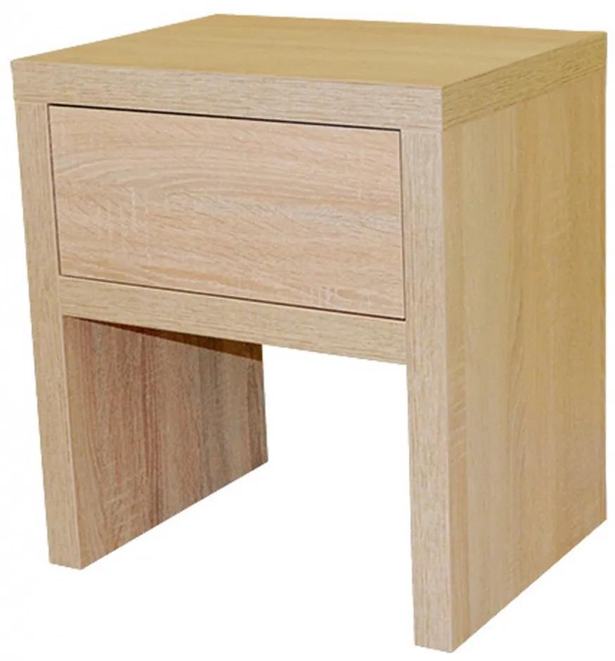 Ahorn ZÁSUVKA -  nočný stolík dekor agát / dub svetlý / dub hnedý