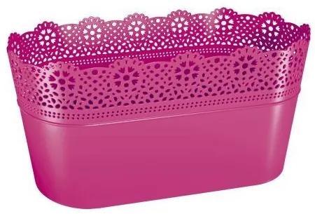 PlasticFuture Truhlík LACEY 28,5 cm růžový