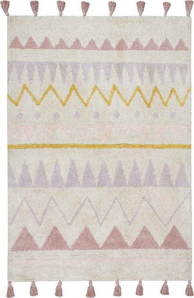 Lorena Canals koberce Ručně tkaný kusový koberec Azteca Natural-Vintage Nude - 140x200 cm