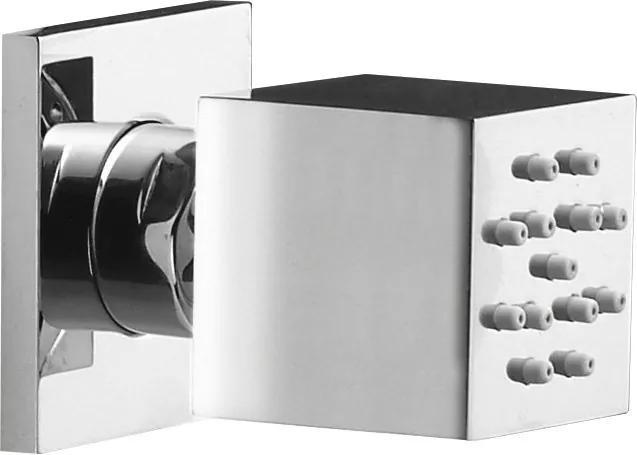 Sapho SLQp sprchová tryska s otočným kĺbom, 35x35mm, chróm
