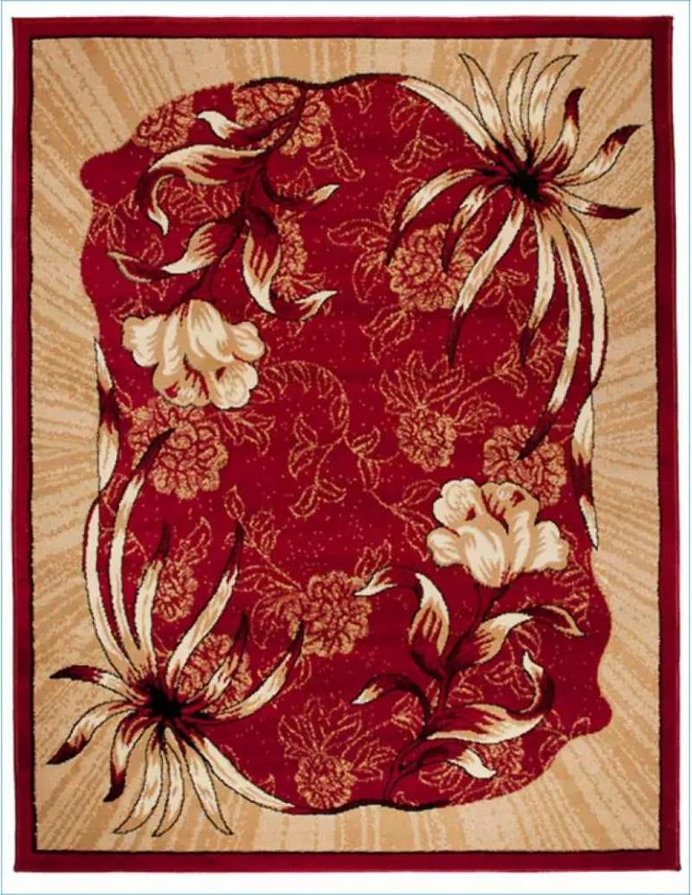 Kusový koberec PP Fori červený, Velikosti 80x150cm