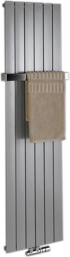 SAPHO - COLONNA vykurovacie teleso 602x1800mm, metalická strieborná (IR146)