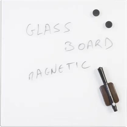 Bi-Office Sklenená magnetická tabuľa, biela, 480 x 480 mm