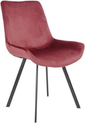 Jídelní židle DRAMMEN červená / černá podnož House Nordic 1001220