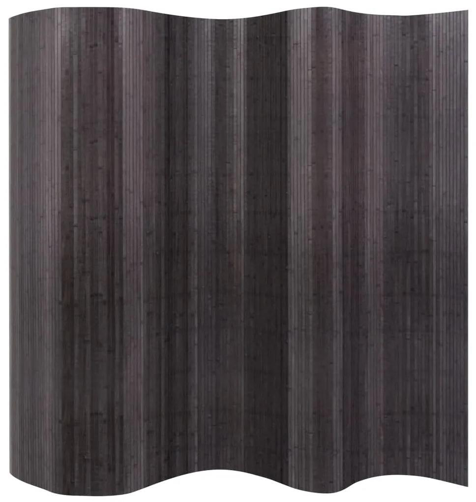 vidaXL Paraván z bambusu, sivý 250x165 cm