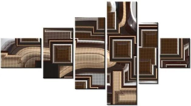 Tlačený obraz Hnedé kontúry 180x100cm 588A_6E