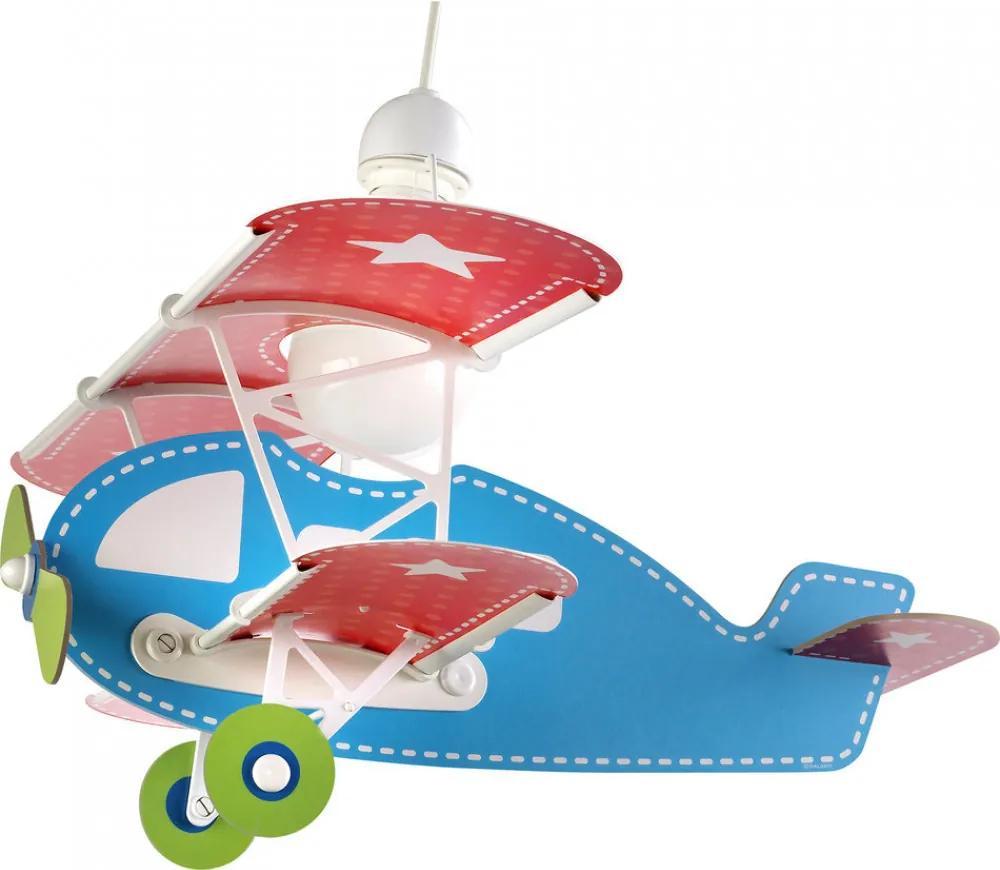 Dalber Baby Plane 54002 Detské Svietidlá viacfarebné 1xE27 max. 60W 49x64x39 cm