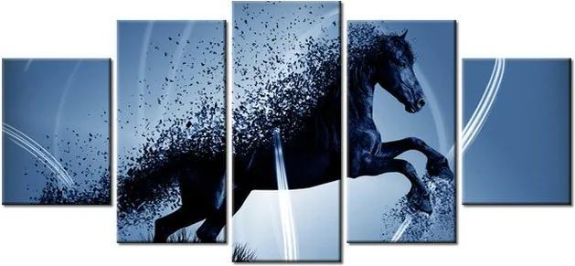 Tlačený obraz Modrý kôň – Jakub Banas 150x70cm 3574A_5B