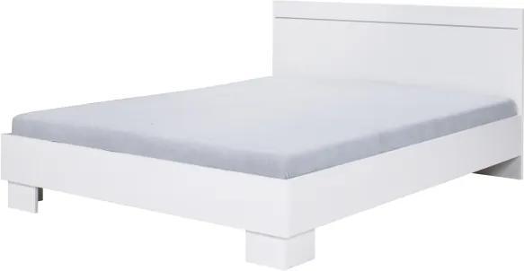 Posteľ 160x200, biela, IKOMO