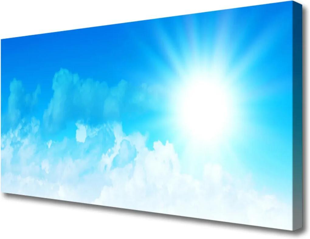 Obraz Canvas Slnko Nebo Krajina
