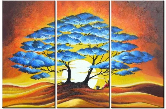 Tlačený obraz Odpočinok pod modrým stromom 90x60cm 3895A_3J