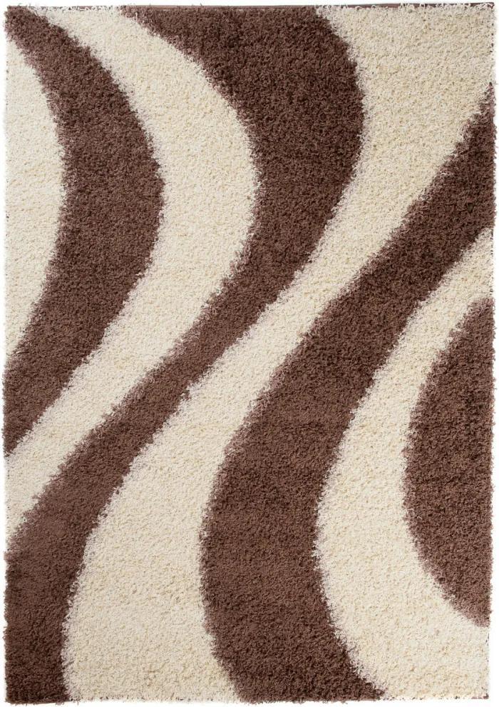 Kusový koberec Shaggy Cosmo hnedý, Velikosti 120x170cm