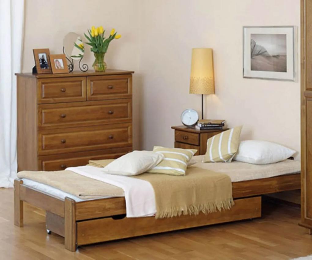 AMI nábytok Posteľ dub Adéla 90x200cm