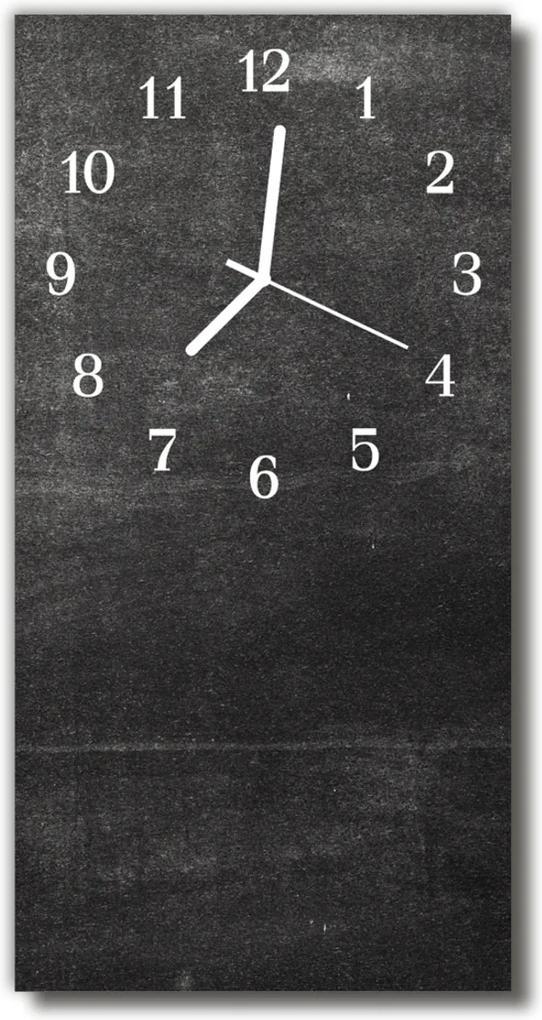 Sklenené hodiny vertikálne  Šedý asfaltový grafit