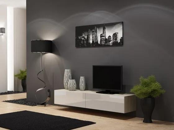 Vigo - TV komoda 180 (dub sonoma/biela lesk