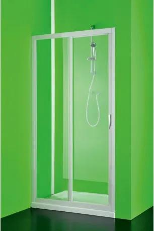 HOPA - Sprchové dveře MAESTRO DUE - 185 cm, Univerzální, Plast bílý, Čiré bezpečnostní sklo - 3 mm, 110 cm (BSMAD11S)